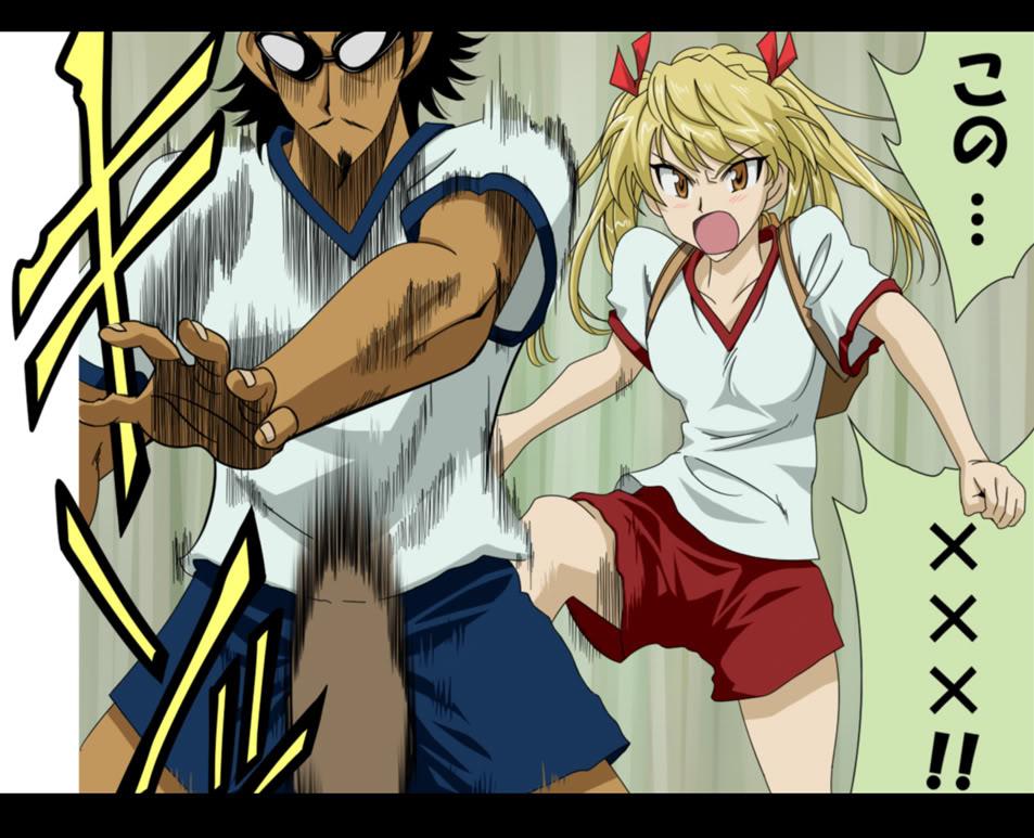 Golpe en las bolas School Rumble San Gakki Kumaconexion